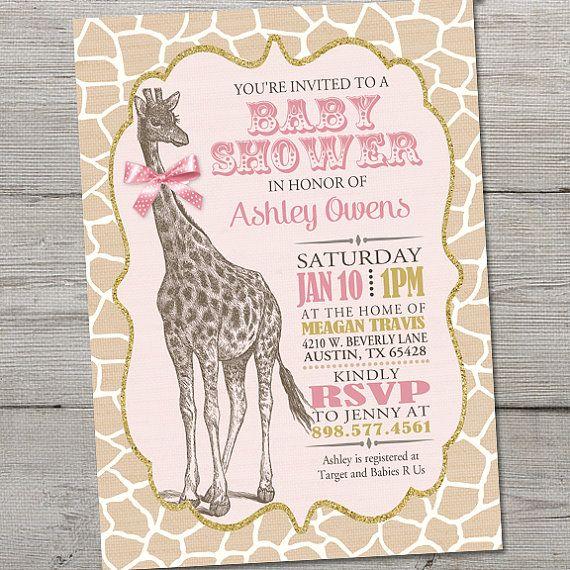 25+ best ideas about Baby shower giraffe on Pinterest