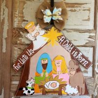 Christmas Door Hanger - Nativity Door Hanger - Christmas ...