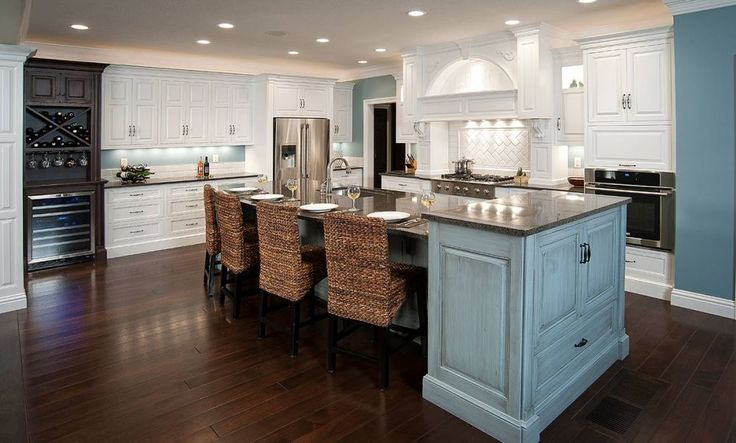 Kitchen Center Island Cabinets Love The Colors! A Custom Painted Granite Topped Center