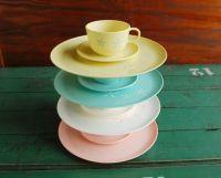 Vintage Plastic Dinnerware Set, Pinwheel Design | Vintage ...