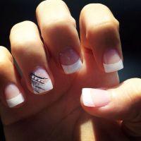 french tip cute | Nails | Pinterest | Wedding, Nail design ...