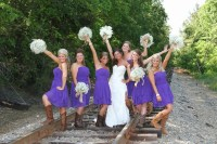 Purple Bridesmaid dresses with Cowboy Boots | Wedding ...