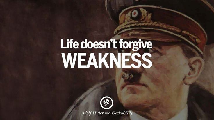 Sympathy Wallpaper Quotes Life Doesn T Forgive Weakness 40 Adolf Hitler Quotes On