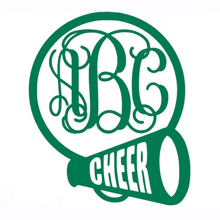 cheerleader monogram vinyl decal