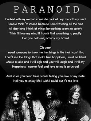 17 Best ideas about Black Sabbath Lyrics on Pinterest ...