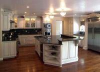 kitchen hickory floor with honey oak cabinet - Google ...
