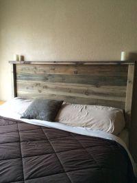 Best 25+ Rustic wood headboard ideas on Pinterest