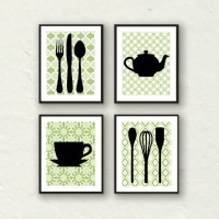 Fork Art, Spoon Art, Kitchen Decor, Kitchen Utensil Art ...