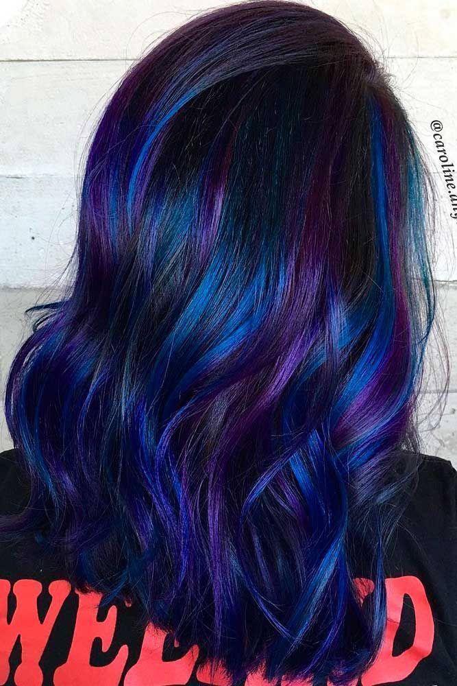17+ best ideas about Dark Blue Hair on Pinterest