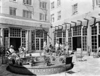 La Fonda Hotel Patio. It is now enclosed and a full ...