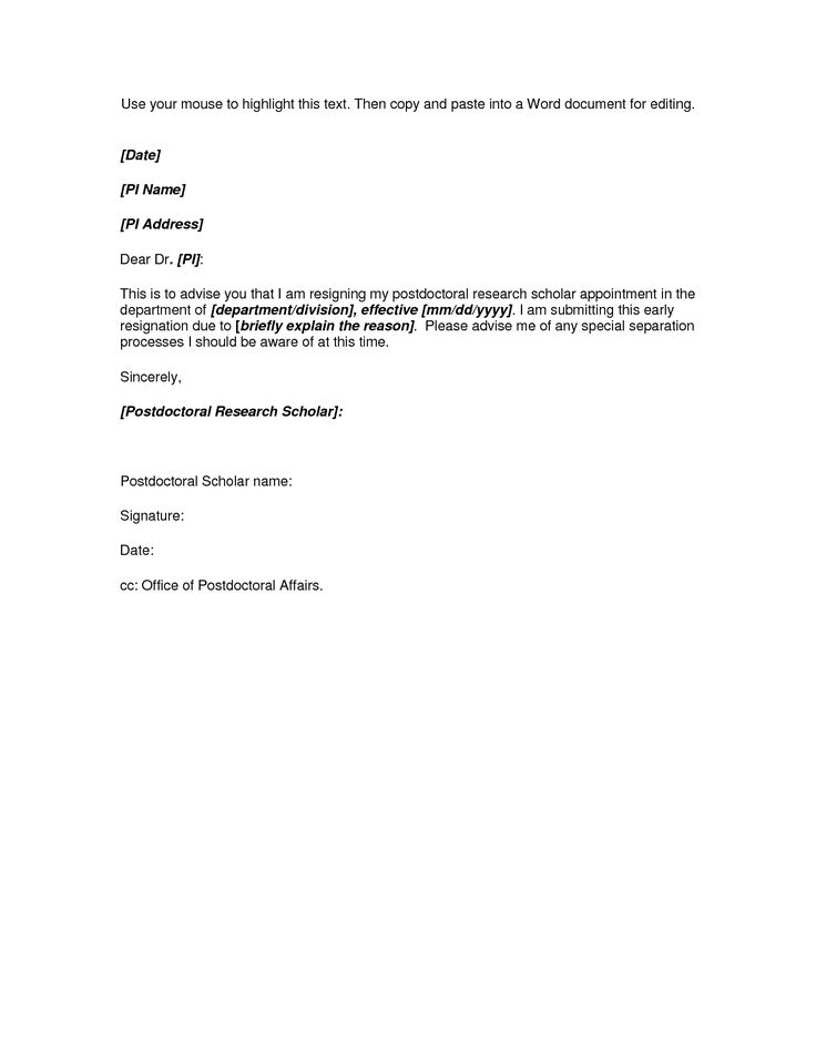 Letter of resignation template word resume templateasprovider example resignation letter resignation letter template for a letter of resignation template word spiritdancerdesigns Image collections