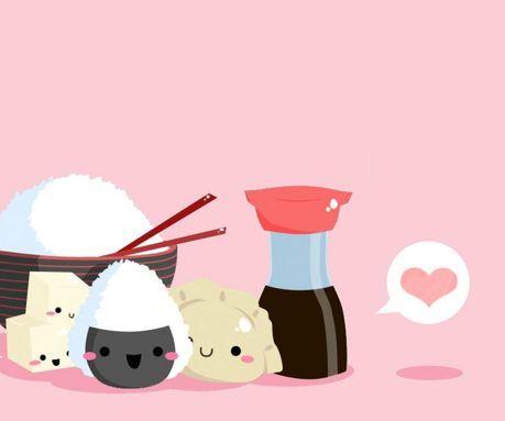 Cute Tofu Desktop Wallpaper Cute Sushi Wallpaper Google Search Kawaii Pictures