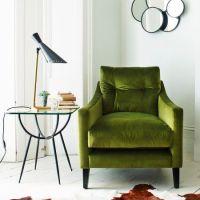 Green velvet armchair | Ghighi's Reading Corner ...