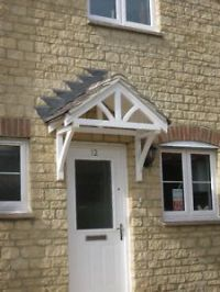 Front door canopy porches, wooden roof kit, Traditional ...