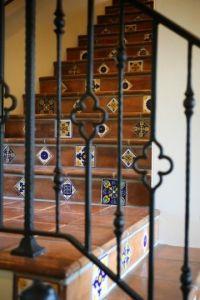Spanish Villa staircase Latin Accents handmade decorative ...