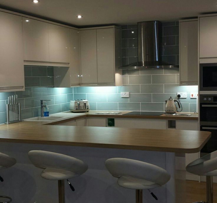 Kitchen Island And Breakfast Bar Attingham Seagrass Tile | Kitchen Splash Back | Pinterest