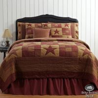 Details about Country Rustic Western Star Twin Queen Cal ...