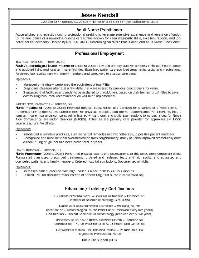 resume cover letters for nurses