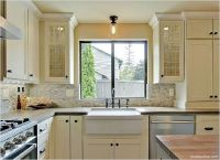 semi flush light over kitchen sink - Google Search ...