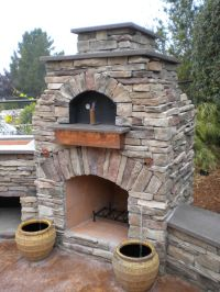 Outdoor Pizza Oven/Fire Pit | Exterior stone | Pinterest ...
