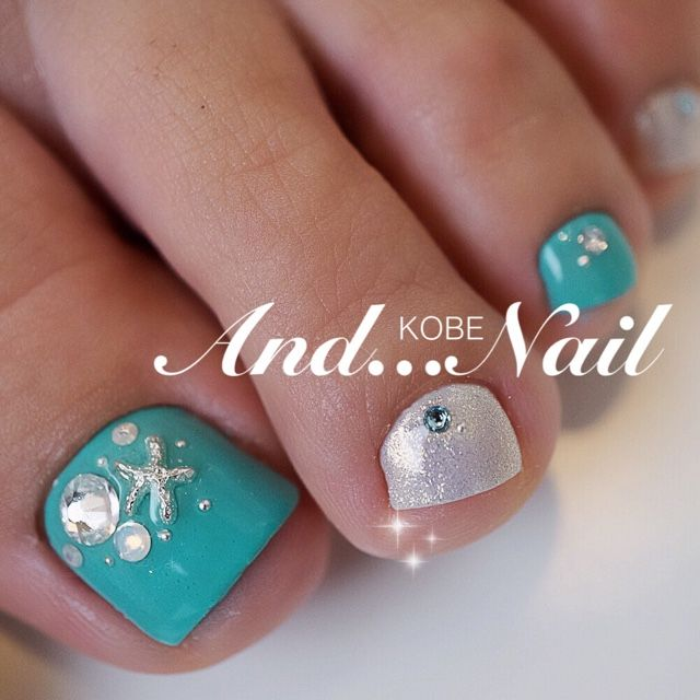 25+ best ideas about Turquoise Toe Nails on Pinterest