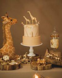 Giraffe Boy Baby Shower Decorations