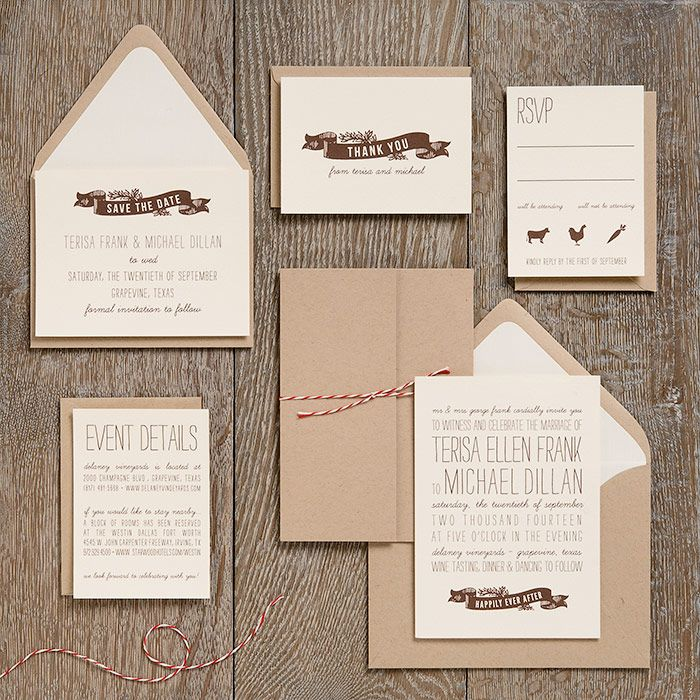 Another Craft Paper Option Love The Twine Wedding