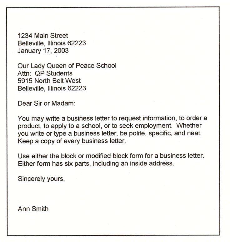 Informal letter format for class 7