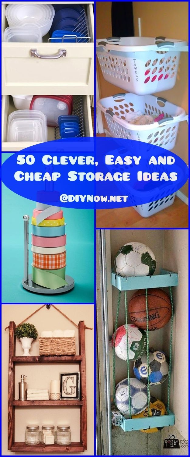 50 Clever Easy And Cheap Storage Ideas Diy Crafts 1