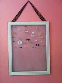 Homemade earring holder. #diy #jewelry | Everything else ...