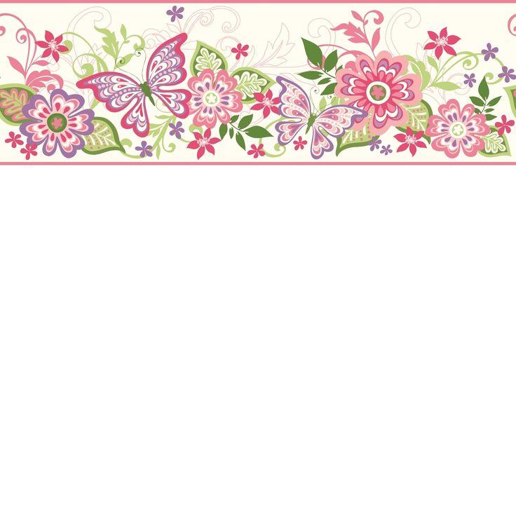 Pin Up Girl Wallpaper Free Girls Rule Butterflies Amp Blooms Wallpaper Border Gir94071b