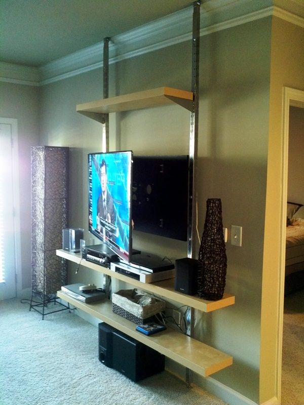 Ikea Lack Wall Shelf Unit How To Create A Floor-to-ceiling Tv Entertainment Center