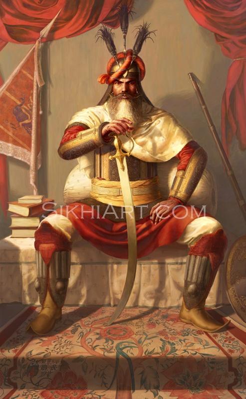 Baba Deep Singh Ji Wallpaper Hd General Hari Singh Nalwa By Sikh Artist Bhagat Singh