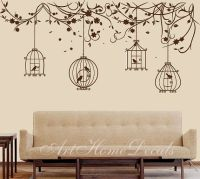 Nature wall decal birds Wall Decal branch Wall Sticker ...