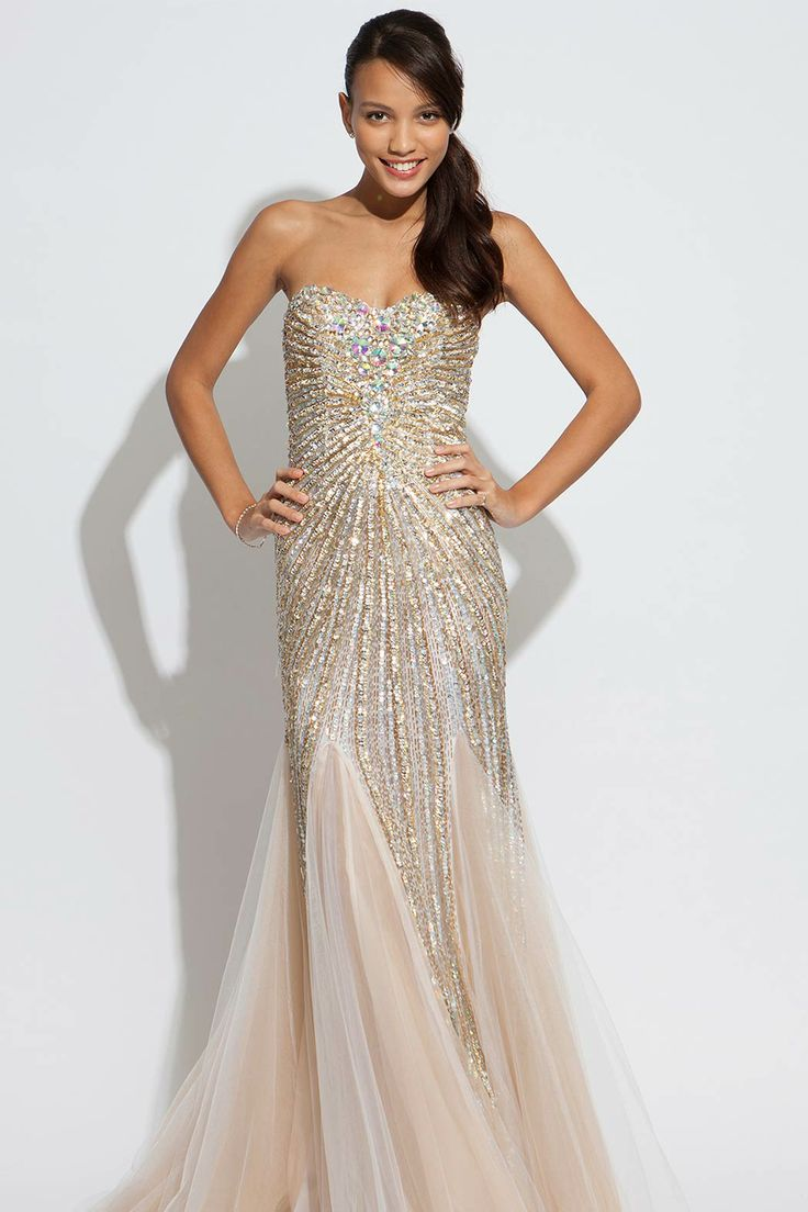 jovani jovani wedding dress Long Jovani strapless beaded dress Gorgeous evening gown that can double as the perfect fashionable