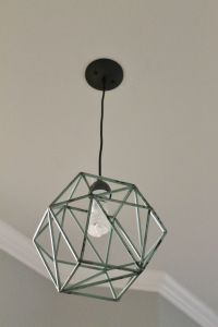DIY Geometric Light Fixture | Home Decor | Pinterest | DIY ...