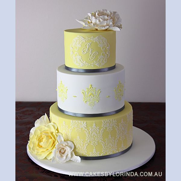78 Best Images About 3 Yellow Wedding Cakes On Pinterest | Cakes