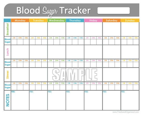 blood sugar tracking sheets