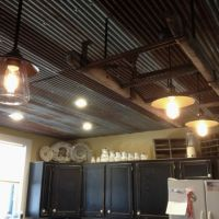 Corrugated rusted tin in the kitchen.   Kitchen/Great Room ...