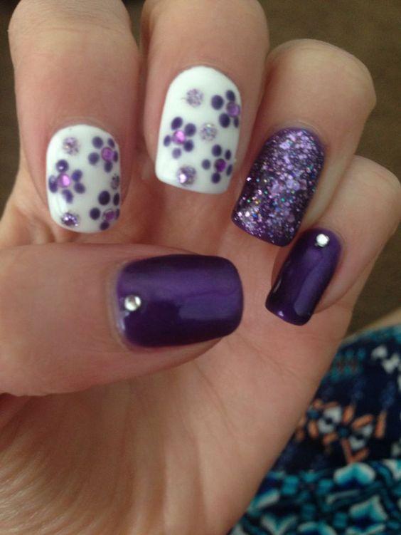 Best 20+ Purple Nail Designs ideas on Pinterest