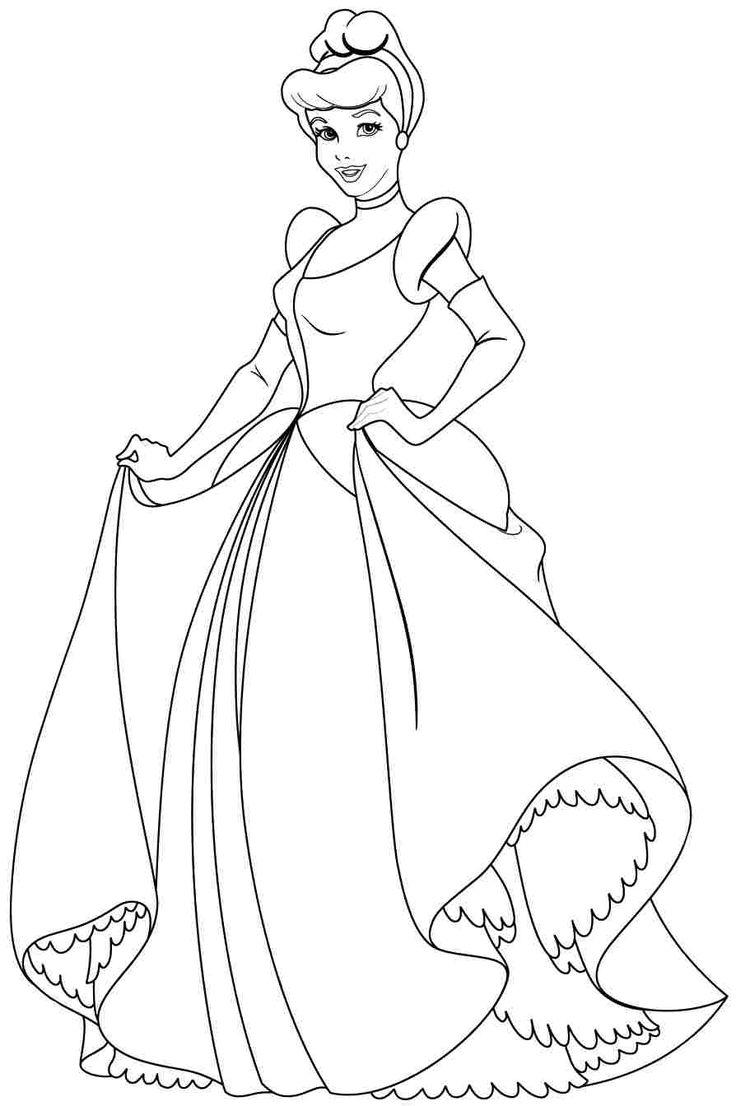 Disney princess cindirella coloring page