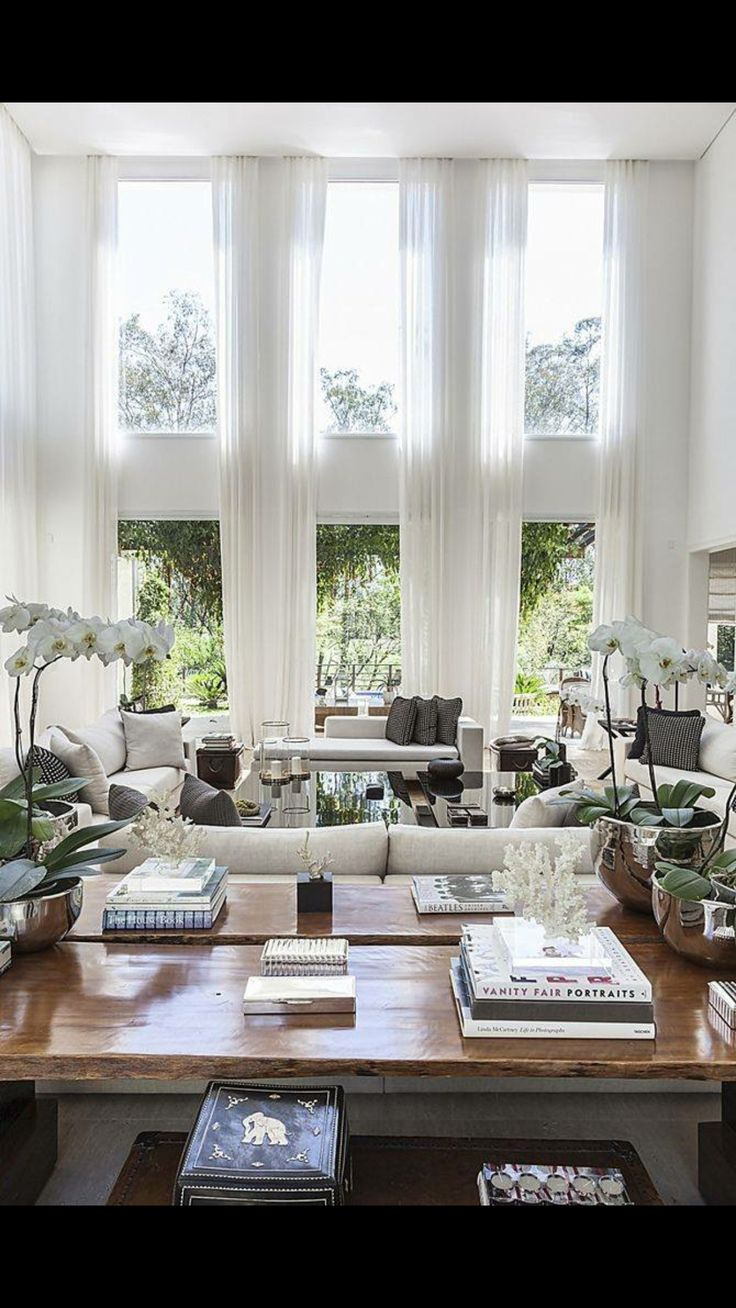 25+ best ideas about Tall Window Curtains on Pinterest