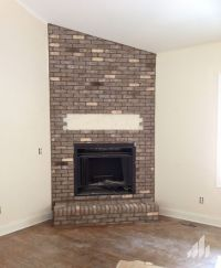 Cape Lookout thin brick fireplace. | House ideas ...