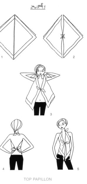 scarf tying diagrams