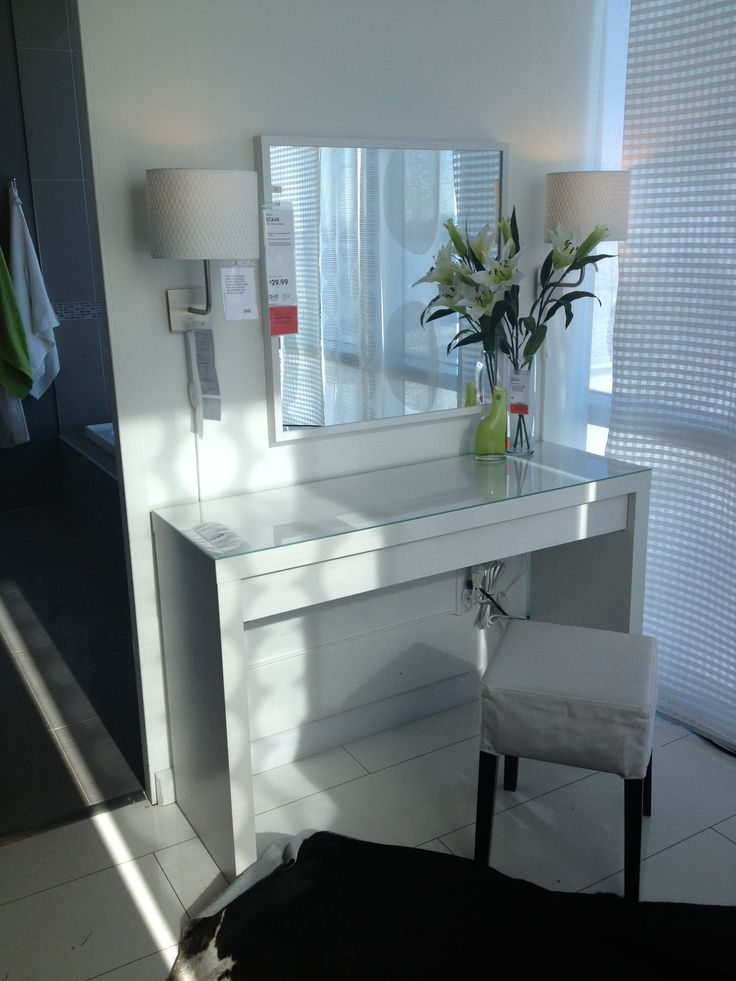 Malm vanity table ikea makeup vanity ideas pinterest