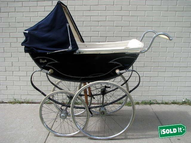 Pram Pushchair Toys Vintage Original Royale Pram Baby Coach Stroller Carriage