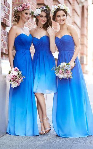 ombre bridesmaid dresses wedding dresses with blue Romantic Cocktail Dress by Sorella Vita Royal Blue Bridesmaid
