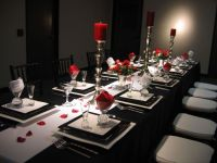 Black white and red table setting 2 | dinner party ...