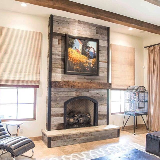 25+ best ideas about Reclaimed wood fireplace on Pinterest