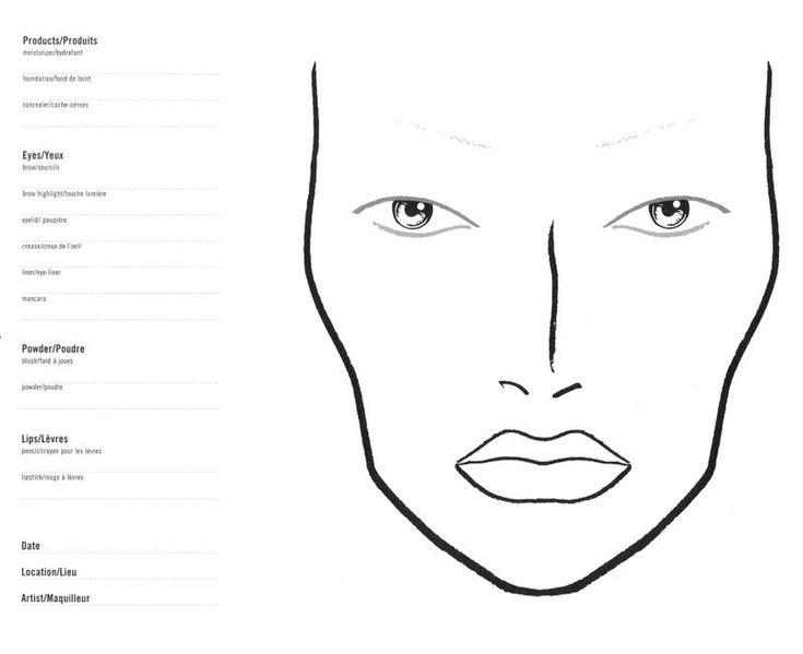 blank face chart makeup artistry mac face makeup faces face charts